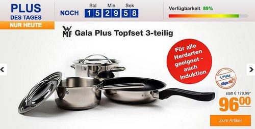 WMF Gala Plus Topfset 3-teilig - jetzt 19% billiger