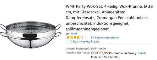 WMF Party Wok-Set, 4-teilig - jetzt 21% billiger