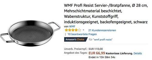 WMF Profi Resist Servier-/Bratpfanne, Ø 28 cm - jetzt 20% billiger