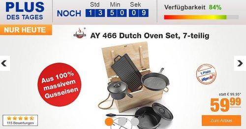 7 teiliges El Fuego AY 466 Dutch Oven Set - jetzt 25% billiger