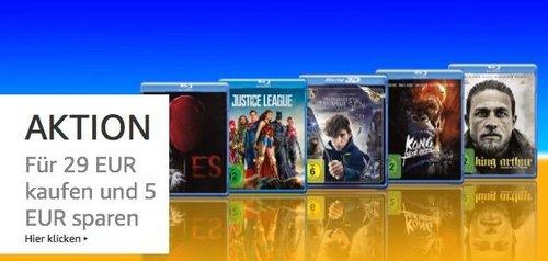 Amazon Aktion: DVD & Blu-ray für 29 EUR kaufen und 5 EUR sparen (bis 26.08.18) - jetzt 16% billiger