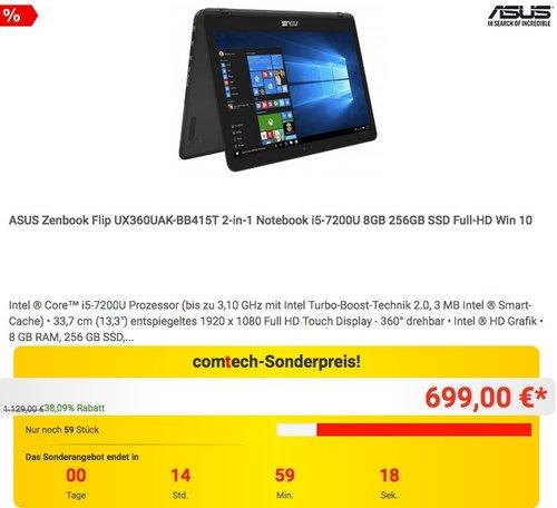 ASUS Zenbook Flip UX360UAK-BB415T 2-in-1 Notebook - jetzt 22% billiger