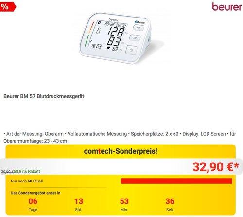 Beurer BM 57 Blutdruckmessgerät - jetzt 19% billiger