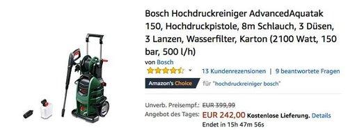 Bosch Hochdruckreiniger AdvancedAquatak 150 - jetzt 21% billiger