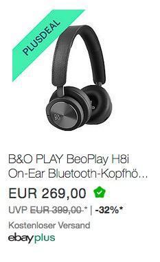 B&O PLAY BeoPlay H8i On-Ear Bluetooth-Kopfhörer - jetzt 10% billiger