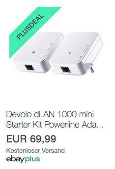 Devolo dLAN 1000 mini Starter Kit, 2xPowerline Adapter 1000 Mbit/s - jetzt 10% billiger