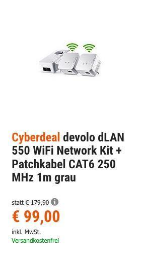 devolo dLAN 550 WiFi Network Kit - jetzt 24% billiger