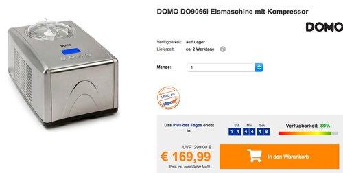 DOMO DO9066I Vollautomatische Eismaschine mit Kompressor - jetzt 15% billiger