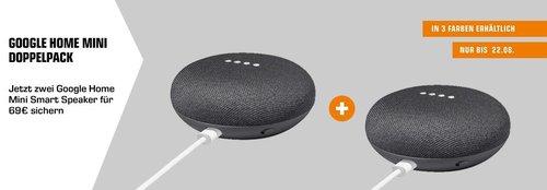Doppelpack Google Home Mini Smart Speaker - jetzt 30% billiger