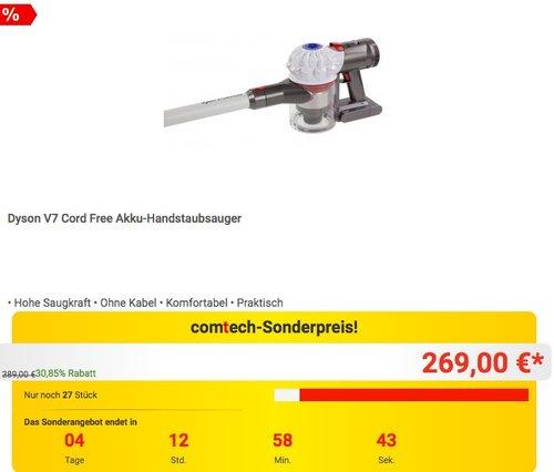 Dyson V7 Cord Free Akku-Handstaubsauger - jetzt 8% billiger