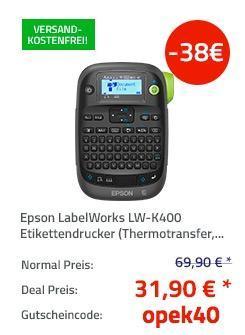 Epson LabelWorks LW-K400 Etikettendrucker C51CB70340 - jetzt 54% billiger