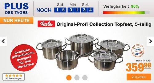 Fissler Original-Profi Collection 5 -teiliges Topfset - jetzt 10% billiger