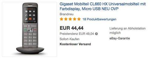 Gigaset CL660HX Universal-Mobilteil mit Farbdisplay - jetzt 16% billiger