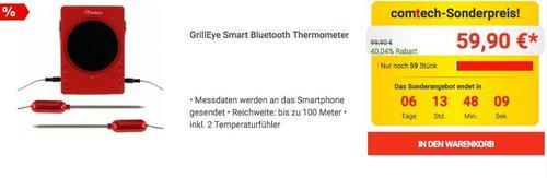 GrillEye Smart Bluetooth Thermometer inkl. 2 Temperaturfühler - jetzt 13% billiger