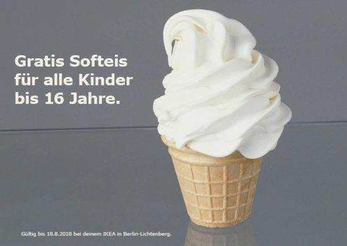 IKEA Berlin-Lichtenberg Softeis - jetzt 100% billiger
