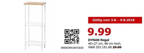 IKEA Berlin-Spandau DYNAN Regal - jetzt 67% billiger