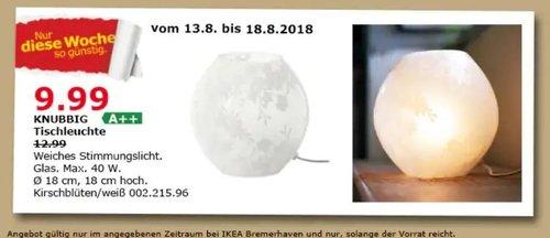IKEA Bremerhaven KNUBBIG Tischleuchte, kirschblüten/weiß - jetzt 23% billiger