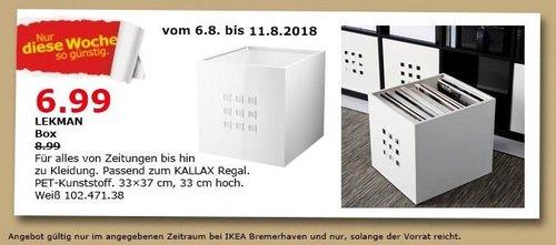 IKEA Bremerhaven LEKMAN Box - jetzt 22% billiger
