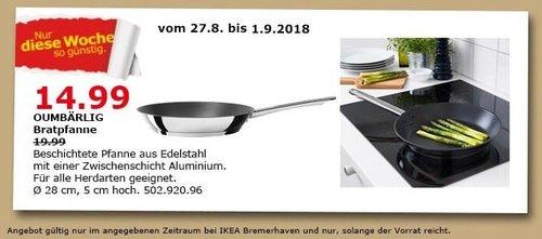 IKEA Bremerhaven - OUMBÄRLIG Bratpfanne - jetzt 25% billiger