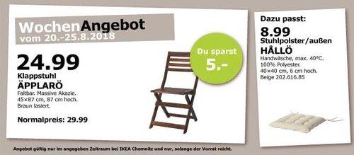 IKEA Chemnitz ÄPPLARÖ Klappstuhl - jetzt 17% billiger
