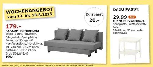 IKEA Dresden ASARUM 3er-Bettsofa - jetzt 10% billiger