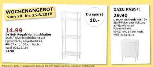IKEA Dresden DYNAN Regal/Handtuchhalter - jetzt 40% billiger