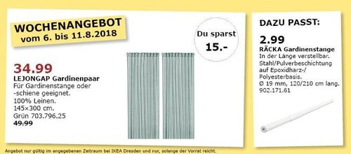 IKEA Dresden LEJONGAP Gardinenpaar - jetzt 30% billiger