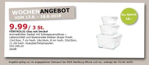 IKEA Hamburg-Altona FÖRTROLIG Glas mit Deckel, 3 Stück - jetzt 50% billiger