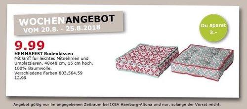 IKEA Hamburg-Altona HEMMAFEST Bodenkissen - jetzt 23% billiger