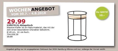 IKEA Hamburg-Altona HJÄRTELIG Ablagetisch - jetzt 25% billiger