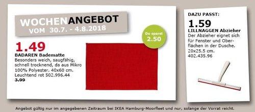 IKEA Hamburg-Moorfleet BADAREN Badematte - jetzt 63% billiger