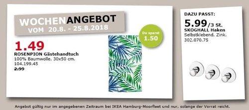 IKEA Hamburg-Moorfleet - ROSENPION Gästehandtuch - jetzt 50% billiger