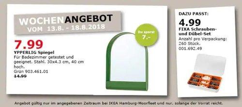 IKEA Hamburg-Moorfleet YPPERLIG Spiegel - jetzt 47% billiger