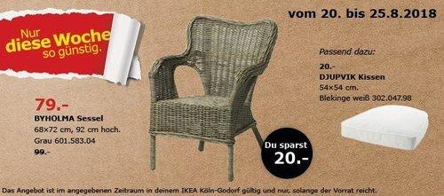 IKEA Köln-Godorf - BYHOLMA Sessel - jetzt 20% billiger