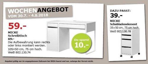 IKEA Kaarst MICKE Schreibtisch - jetzt 14% billiger