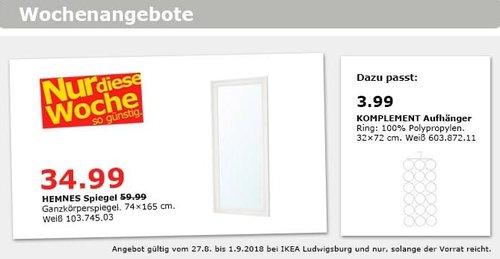 IKEA Ludwigsburg - HEMNES Spiegel - jetzt 42% billiger