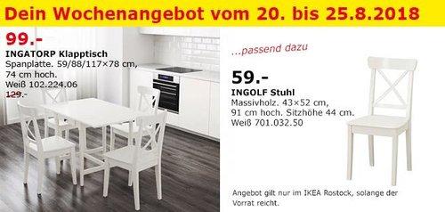 IKEA Rostock - INGATORP Klapptisch - jetzt 23% billiger