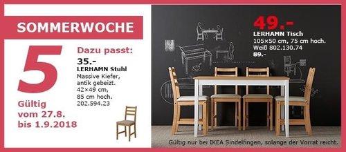 IKEA Sindelfingen - LERHAMN Tisch - jetzt 45% billiger
