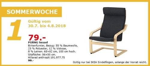 IKEA Sindelfingen POÄNG Sessel - jetzt 20% billiger