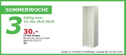 IKEA Sindelfingen STUVA Korpus - jetzt 33% billiger