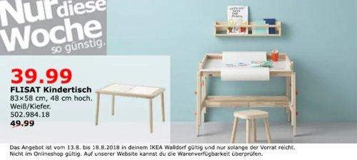 IKEA Walldorf FLISAT Kindertisch - jetzt 20% billiger