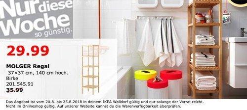 IKEA Walldorf - MOLGER Regal - jetzt 17% billiger