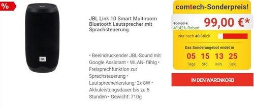 JBL Link 10 Smart Multiroom Bluetooth Lautsprecher mit Sprachsteuerung - jetzt 17% billiger
