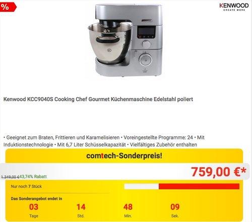 Kenwood KCC9040S Cooking Chef Gourmet Küchenmaschine - jetzt 12% billiger