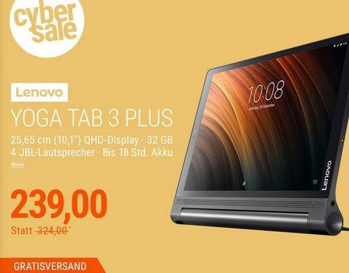 Lenovo YOGA Tab 3 Plus 32 GB QHD LTE Tablet in Schwarz - jetzt 20% billiger