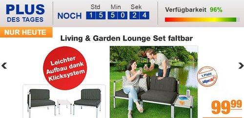 Living & Garden Lounge Set faltbar - jetzt 10% billiger