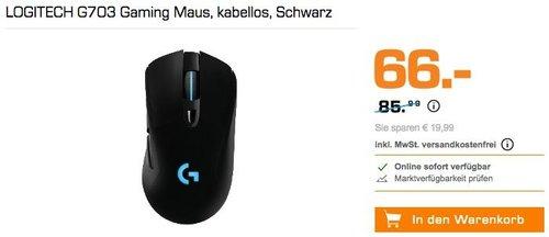 LOGITECH G703 Gaming Maus - jetzt 12% billiger