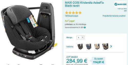 MAXI COSI Kindersitz AxissFix Black raven - jetzt 6% billiger