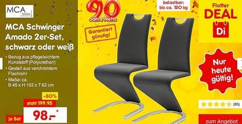 MCA Schwinger Amado 2er-Set in Schwarz oder Weiß - jetzt 18% billiger