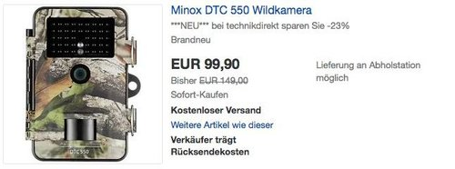 Minox DTC 550 Wildkamera - jetzt 12% billiger